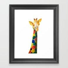 Giraffe Watercolor Print Framed Art Print