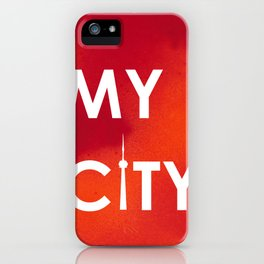 My City-Toronto-RedOrangeA iPhone Case