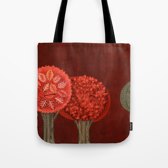 Red Grove Tote Bag