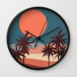 Abstract Landscape 13 Portrait Wall Clock
