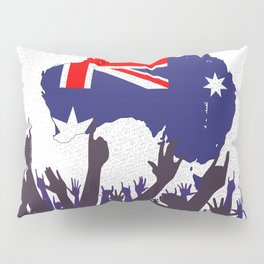 Australian Map And Flag with Audience Pillow Sham