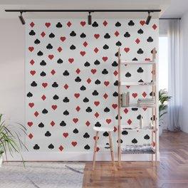 Hearts, clowers, diamonds and spades Wall Mural