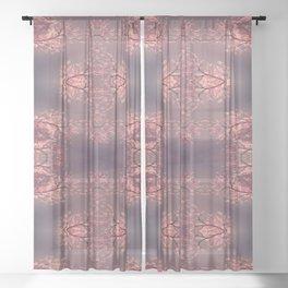 Pink Haze Sheer Curtain