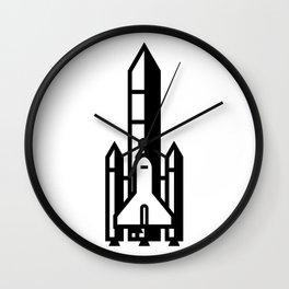 Rocketship Icon Wall Clock