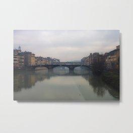 Bridge Gap Over Arno Metal Print