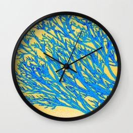 I think of you in blues and yellows Wall Clock