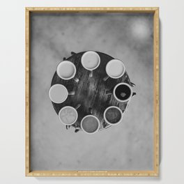 Coffee Circle (Black and White) Serving Tray