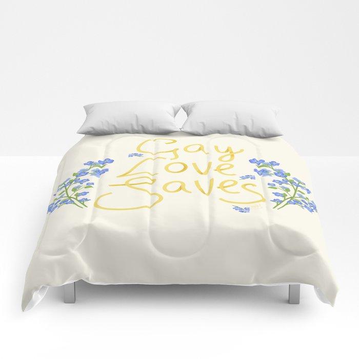 gay love saves Comforters