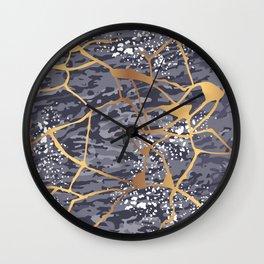 Kintsugi # 1 Wall Clock