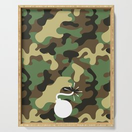 CAMO & WHITE BOMB DIGGITY Serving Tray