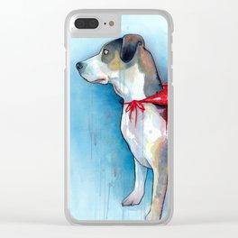 Super Dog Clear iPhone Case