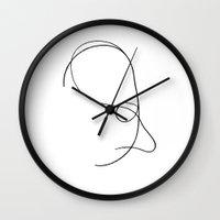 larry Wall Clocks featuring Linear Larry by Kurt Mann