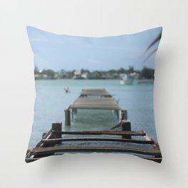 Turquoise Paradise Throw Pillow