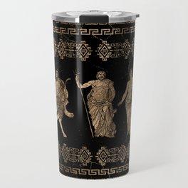 Greek Deities and Meander key ornament Travel Mug