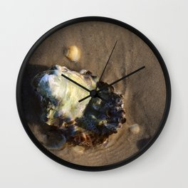 Shells in the sand 1 Wall Clock
