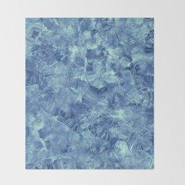 Blue onyx marble Throw Blanket