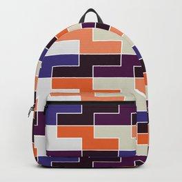 Geometric Pattern 111 (Orange & blue) Backpack
