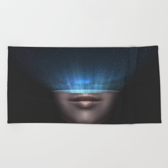 Universe in my mind #stars Beach Towel