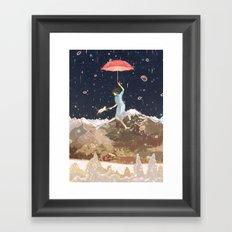 Rain returns Night Framed Art Print