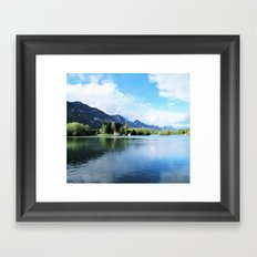 lake in the alps Framed Art Print