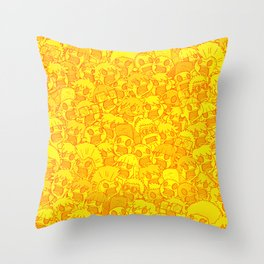 Zombies everywhere! Throw Pillow