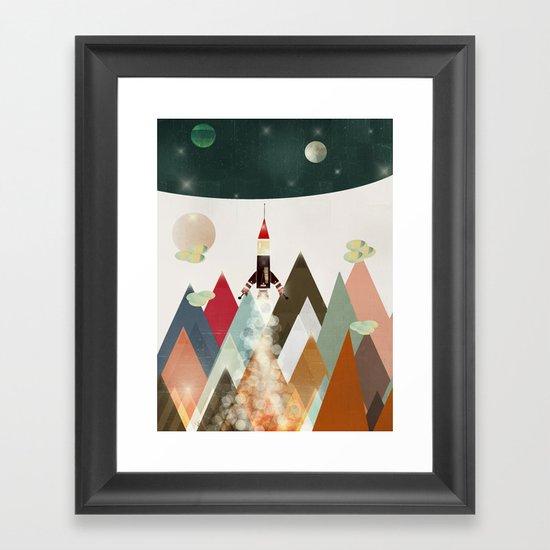 living on the moon Framed Art Print
