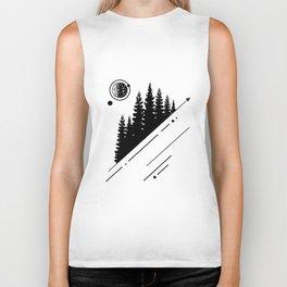 Nature. Forest. Geometric Style Biker Tank