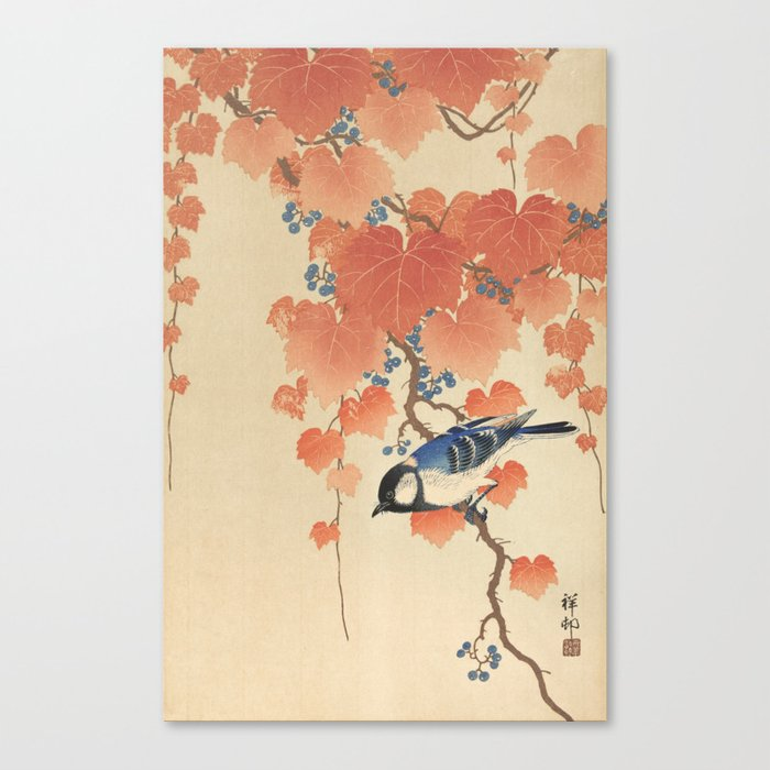 Ohara Koson - Japanese Bird Blockprint Canvas Print
