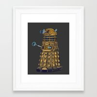 dalek Framed Art Prints featuring Dalek  by Fernando Licon