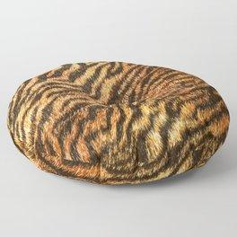 Bengal Tiger Fur Wildlife Print Pattern Floor Pillow