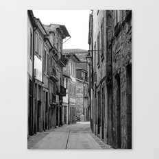 Oporto Back Streets black & white Canvas Print