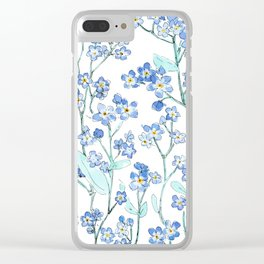 forget-me-not Clear iPhone Case