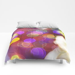 Bright and Blurred City Lights Comforters