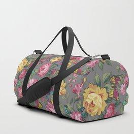 butterflies & roses Duffle Bag