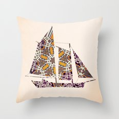 Extravagant sailing yacht Throw Pillow