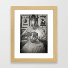 Cyber Barber Framed Art Print