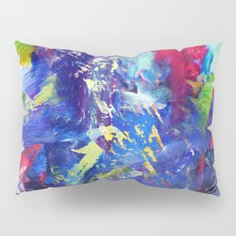 Blue Paint Splash Pillow Sham