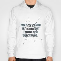 pain Hoodies featuring Pain by fariedesign
