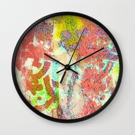 Living Coral abstract Wall Clock