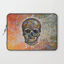 Abstract modern art painting ... Skull Laptop Sleeve