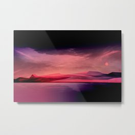 Moody Sunset Mountainscape Metal Print