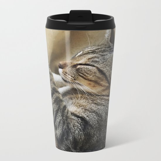 It's A Cat's Life Metal Travel Mug