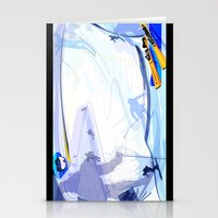 skiing Stationery Cards featuring Downhill Skiing by Robin Curtiss
