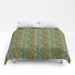 Mid century ochre Comforters