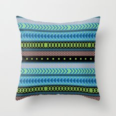 Together Again - tribal geometrics Throw Pillow