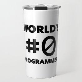 World's #0 programmer Travel Mug