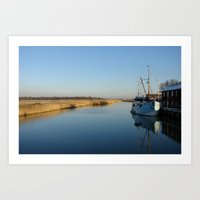 snape Art Prints featuring River Alde, Snape Maltings. by Chris Petty