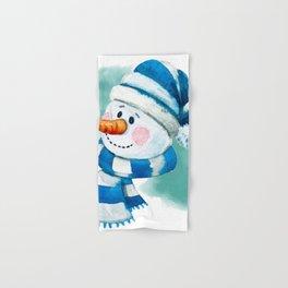 Blue Snowman 02 Hand & Bath Towel