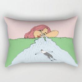 """ Cry me a river "" - He said Rectangular Pillow"