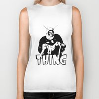 the thing Biker Tanks featuring THING by Taylor Bissett